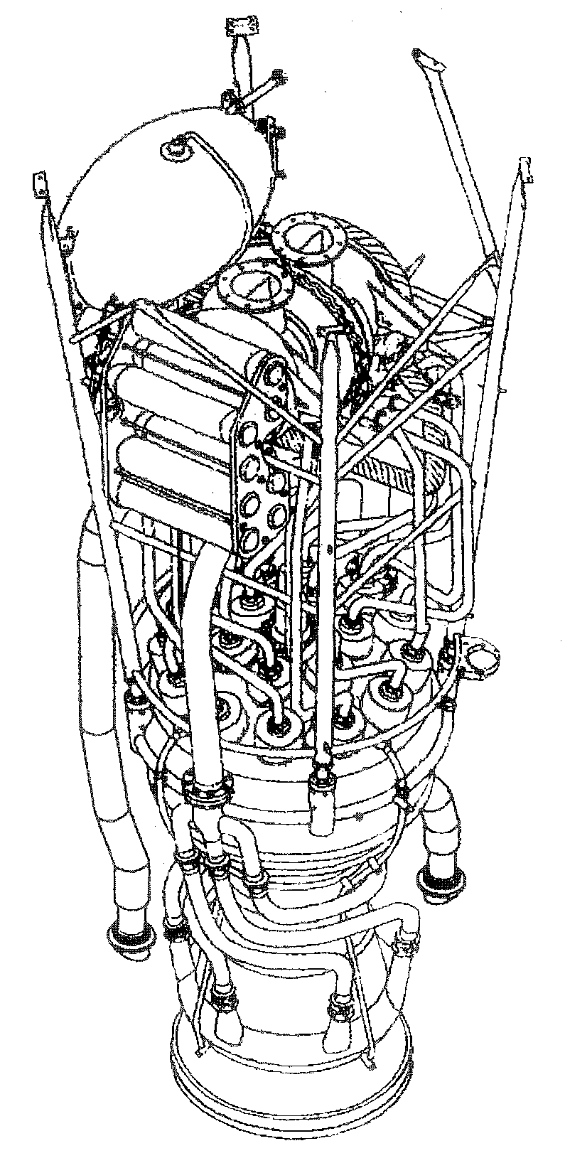 technical data v2 rocket Liquid Fuel Rocket Engine Diagram view of the propulsion unit of a v2 rocket the turbine and the steam generator are mounted in the frame below this the supply pipes to the injectors